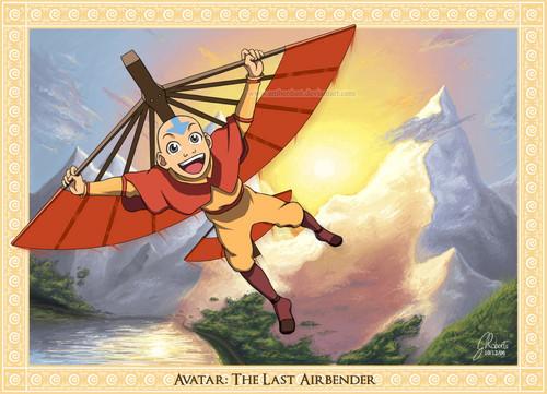 Avatar le dernier maître de l'air fond d'écran probably with animé entitled Aang
