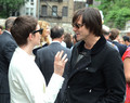 Actors Anne Hathaway and Jim Carrey