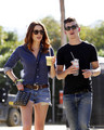 Alex Turner and Arielle Vandenberg at Coachella