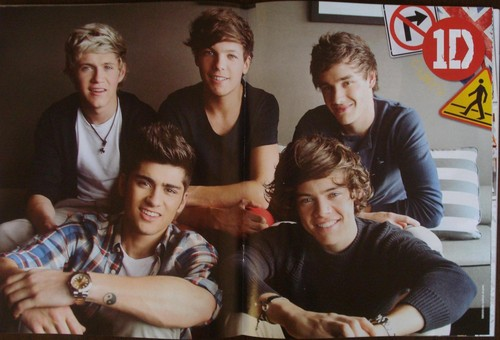One Direction wallpaper probably with a sign titled All 1D Members (Zayn, Niall, Liam, Harry & Louis), from One Direction Magazine (Philippines)