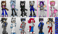 All of my fan characters!