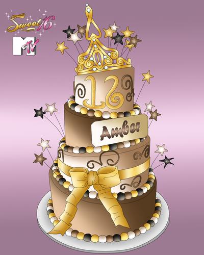 Amber's Sweet 16 Cake!