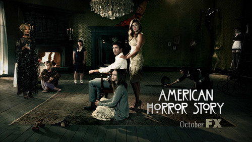 Aмериканская история ужасов Обои probably with a улица, уличный and a sign entitled American Horror Story S01