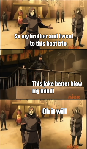 Amon's jokes are still going strong