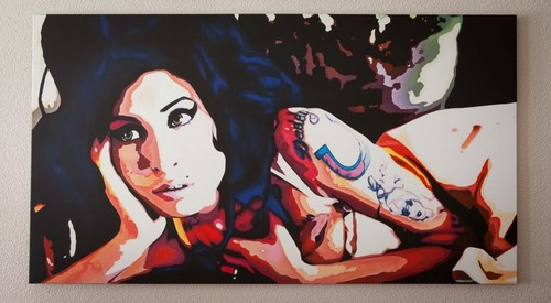 Amy Winehouse Pop Art on Canvass For Sale 146cm x 80cm
