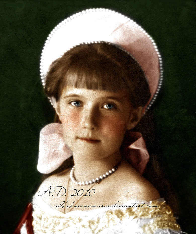 Anastasia Nikolayevna colourised photo - anastasia-romanov Photo