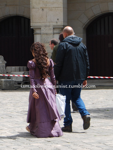 Another Back View of the Queen's Purple Dress