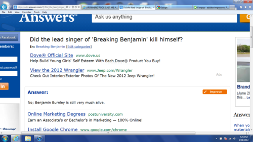 Another frequently stupid question asked on wiki answers.com.XD