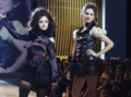 Aria and Spencer at the fashion show