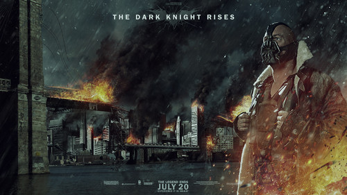The Dark Knight Rises Wallpaper Probably With A Fire And Sign Entitled Bane