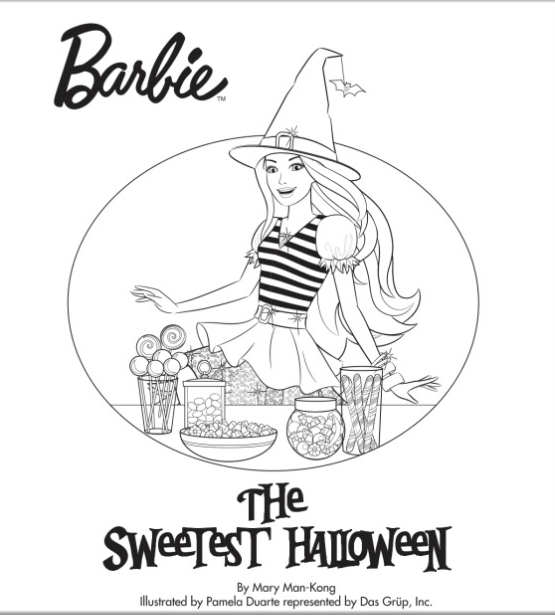 Barbie Halloween Coloring Pages : Barbie the sweetest halloween movies photo