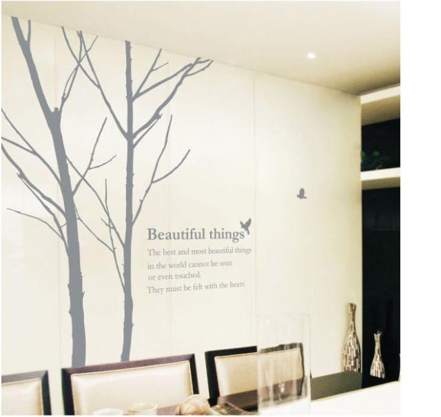 Beautiful Things дерево with Birds Стена Sticker