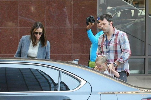 Ben, Jen and violet out for a lunch