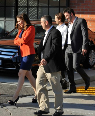 Ben and Jen arrived at event with Tobey Maiguire and his wife, Jennifer Meyer