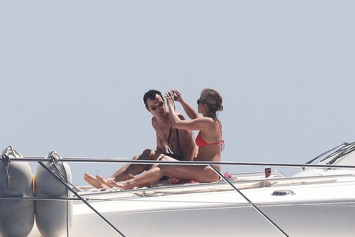 Jennifer Aniston images Bikini - On Boat In Capri [19th June 2012] HD wallpaper and background photos