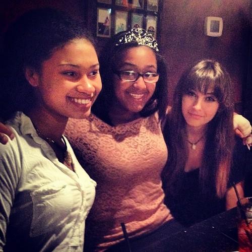 Birthday hapunan with Michaela and leah