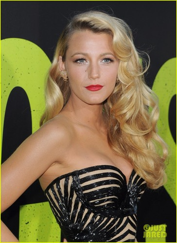 Blake Lively wallpaper possibly with a leotard and tights titled Blake @ the premiere of Savages