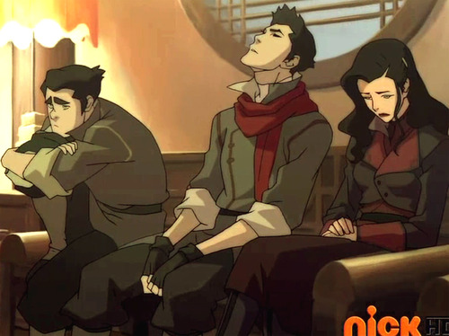 Avatar: The Legend of Korra wallpaper possibly containing anime called Bolin, Mako, and Asami