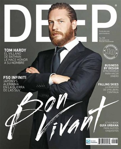 Tom Hardy wallpaper with a business suit, a suit, and a three piece suit titled Bon Vivant // Tom Hardy for DEEP Magazine, July