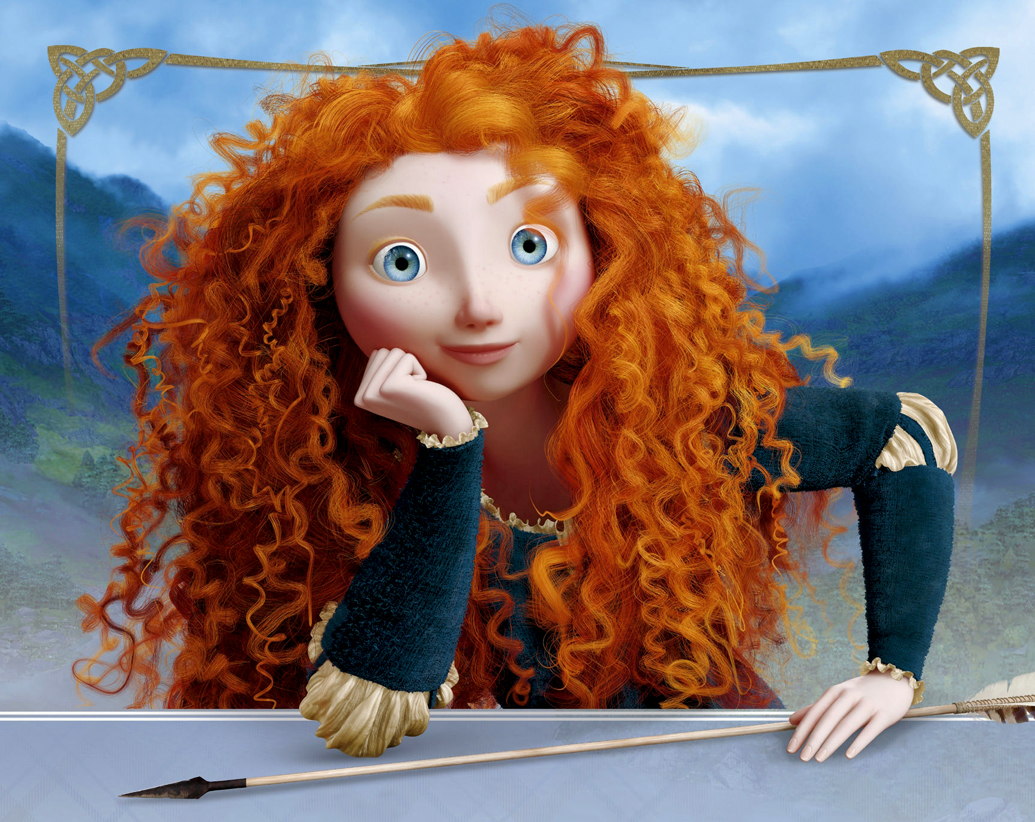 This is an image of Zany Pictures of Merida From Brave