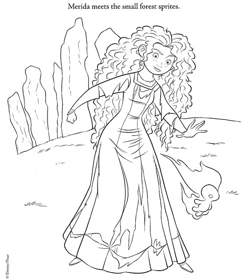 New Brave Coloring Page