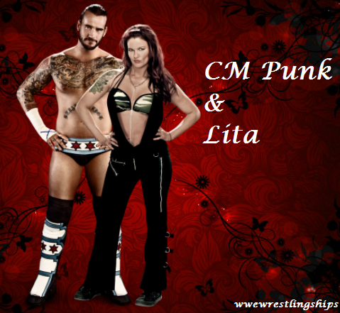 CM Punk wallpaper possibly containing a lingerie, a bustier, and a costume da bagno titled CM Punk and Lita