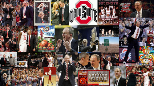Ohio State universidad baloncesto fondo de pantalla called COACH THAD MATTA COLLAGE
