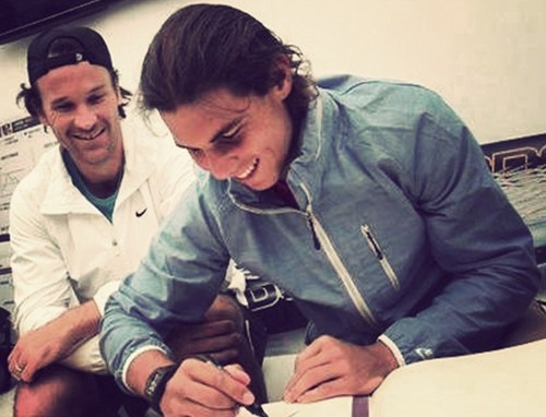 Carlos Moya and Rafael Nadal=They are the best together !