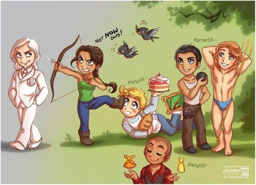 Cartoons - the-hunger-games Fan Art