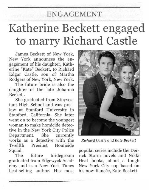 Castle & Beckett Wedding
