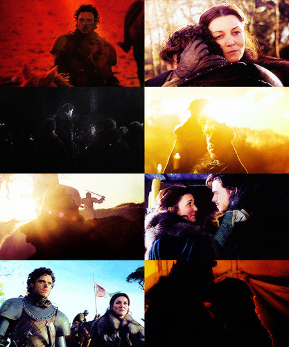 Catelyn and Rob Stark