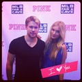 Chord with Elsa Hosk at the Victoria's Secret PINK & MLB Host Event At MLB Fan Cave, June 19th 2012