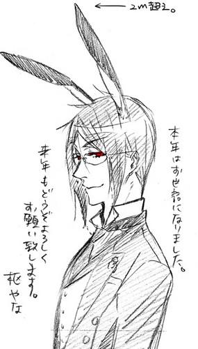 Ciel and Sebastian Rabbits! <3