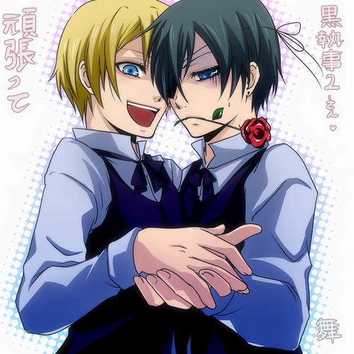 Kuroshitsuji wallpaper containing anime titled Ciel x Alois ^///^