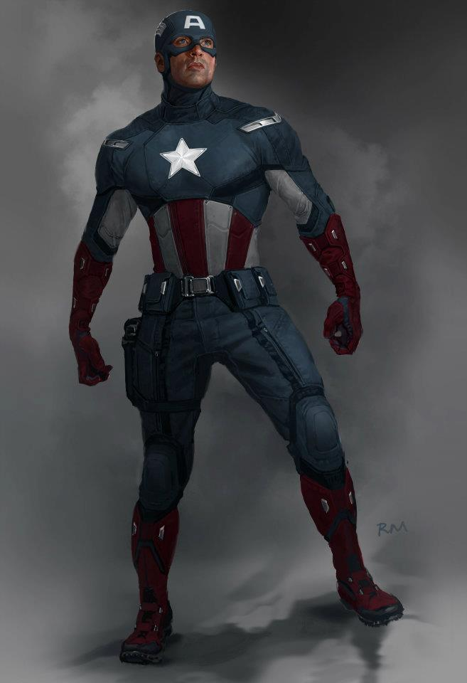 Concept art of Captain America