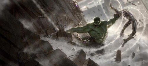 Concept art of Hulk