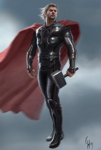 Concept art of Thor