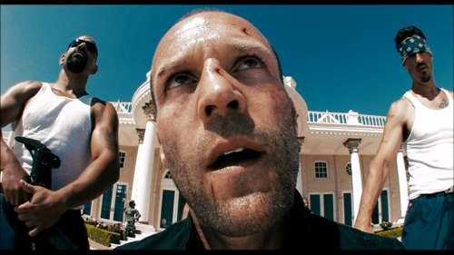Jason Statham fondo de pantalla with a triceratops titled Crank 2: High Voltage