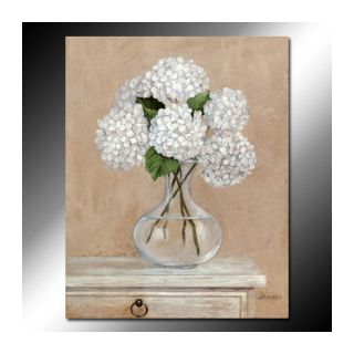 Fine Art Hintergrund with a bouquet entitled Cute White Pincushion Oil Painting