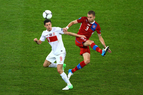 UEFA Euro 2012 wallpaper containing a fullback and a soccer player called Czech Republic v Poland