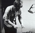Dan playing the xylophone - the-black-keys photo