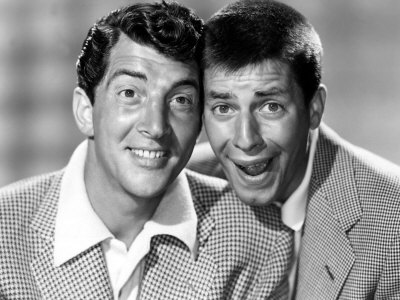 Dean Martin wallpaper probably containing a business suit titled Dean Martin & Jerry Lewis