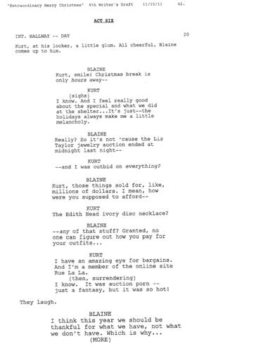 Deleted Scene: 3x10 The Box Scene (Klaine) 1 of 2