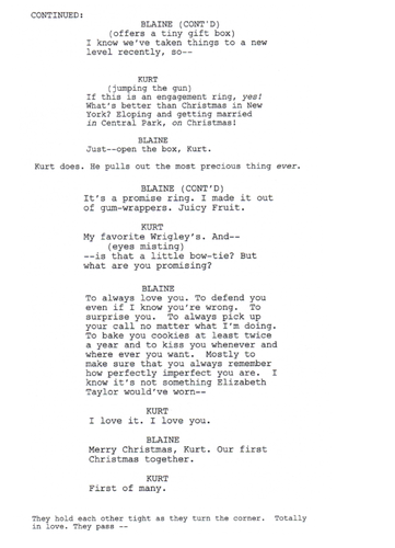 Deleted Scene: 3x10 The Box Scene (Klaine) 2 of 2