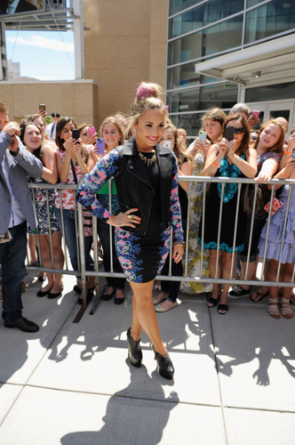 Demi - &#39;X Factor&#39; Auditions in Providence, RI - June 27, 2012  - demi-lovato Photo