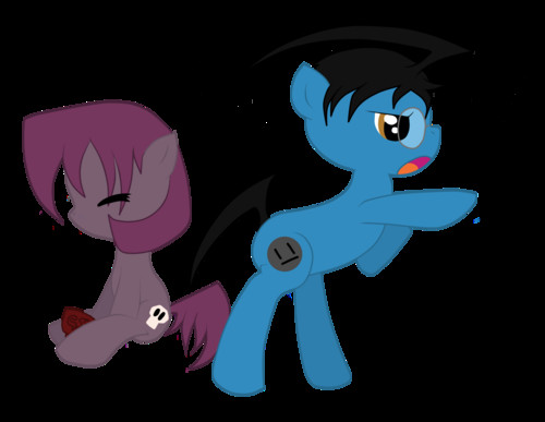 Dib and Gaz as ponies
