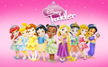 迪士尼 Princess Toddler Line up