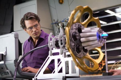 Dr. Bruce Banner Woking in his lab
