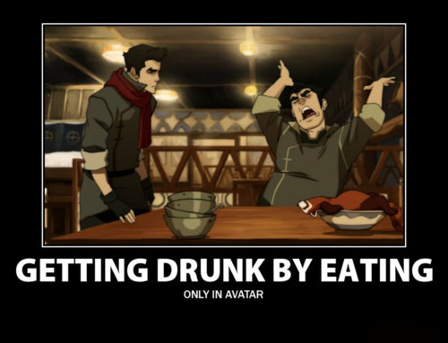 Drunk by eating