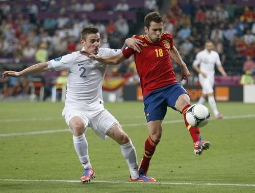 EURO 2012: Spain (2) v France (0) - Quarter Finals